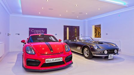 The huge garage is one of the property's stand-out features