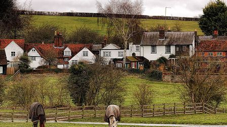 Countryside views across Piccotts End