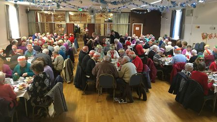 The pensioner's Christmas lunch at the Medway Centre. Picture: CONTRIBUTED.