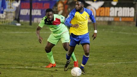 Rhys Murrell-WIlliamson in action against Oxford City. Picture: LEIGH PAGE