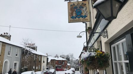 St Albans in the snow - photo by Stuart Macer.