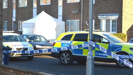 The scene in Duck Lane following the shooting of Richard Davies. Picture: HELEN DRAKE