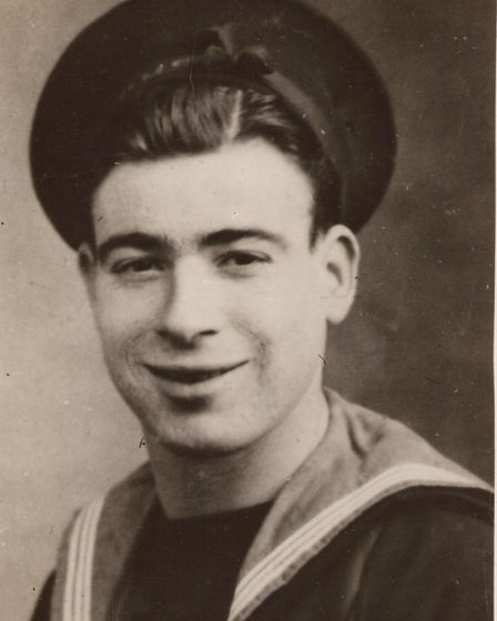 A young Reg Pegram when he was a sailor on HMS Cambrian in the Arctic Convoys.
