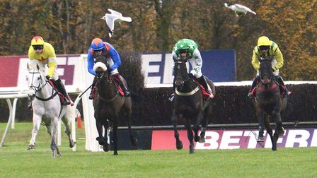 The Betfred Peterborough Chase of 2015. This year's race was abandoned today.