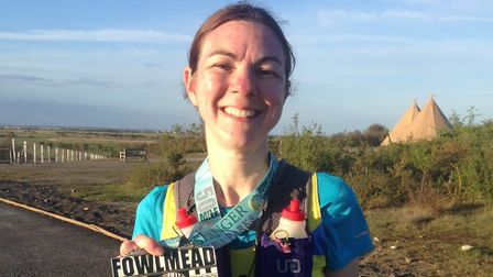 Clair Drage completed her 12 marathon in 12 months in Kent.