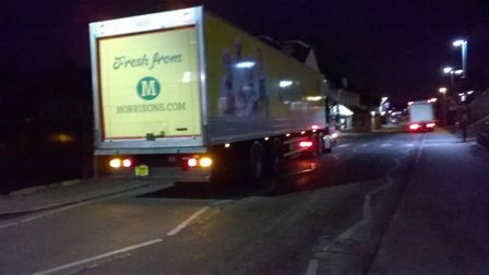 Morrisons delivery van late at night. Picture: Rosalind Marshall