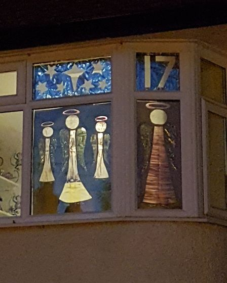 The advent windows on Prospect Road are raising money for Centre33. Picture: Kate Maguire