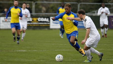 Kieran Monlouis in action against Truro City. Picture: LEIGH PAGE
