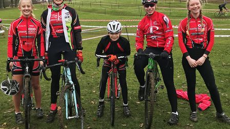 St Ives Cycling Club riders at the Eastern and South Eastern Regional Championships are, from the le