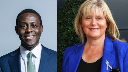 Bim Afolami and Anne Main. Photo of Mr Afolami: Chris McAndrew. Photo of Mrs Main courtesy of her of