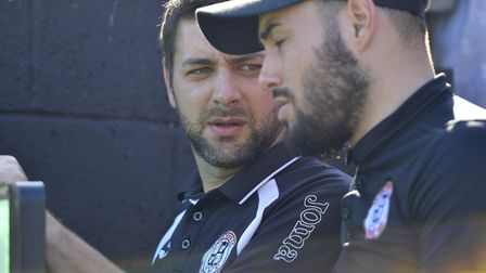St Ives Town manager Ricky Marheineke (left) and assistant boss Jack Cassidy.