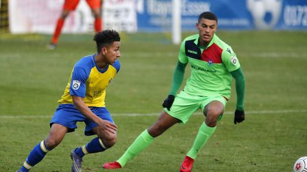 Zane Banton scored for St Albans City against Whitehawk in the FA Trophy. Picture: LEIGH PAGE