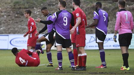 St Albans City are through to the second round of the FA Trophy after beating Whitehawk. Picture: BO
