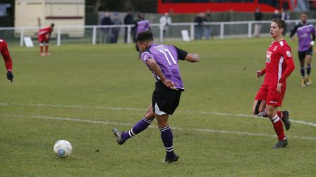 Zane Banton scores the opening goal. Picture: LEIGH PAGE
