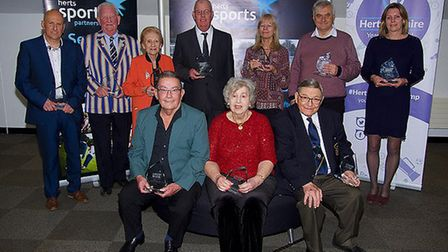 The winners of the lifetime achievement award, who included Phil Gibson