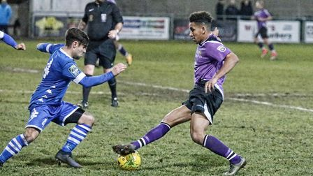 Zane Banton scored the equaliser against Hertford Town. Picture: LEIGH PAGE