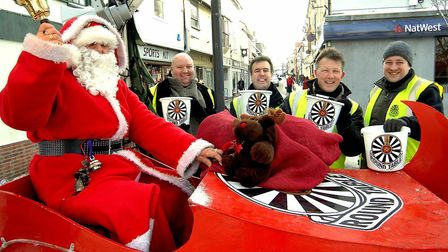 Royston & District Round Table's Santa sleigh on a previous outing in town.