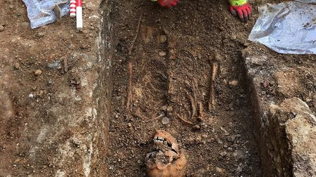 Abbot Wheathampstead's burial site - Canterbury Archaeological Trust