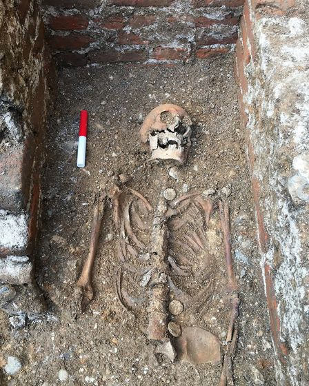 Abbot Wheathampstead's remains at St Albans Cathedral - Canterbury Archaeological Trust