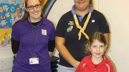 From left, waste awareness officer Lizzie Shepherd, district commissioner Rebecca Abrams and Rainbow