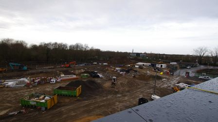 STORE: The view from the roof of Morrisons' new supermarket in St Ives