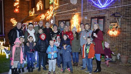 The Turner family hosted a Christmas light switch-on in Warboys. Picture: DUNCAN LAMONT