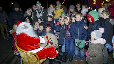 Father Christmas attended the Christmas light switch-on in Warboys. Picture: DUNCAN LAMONT