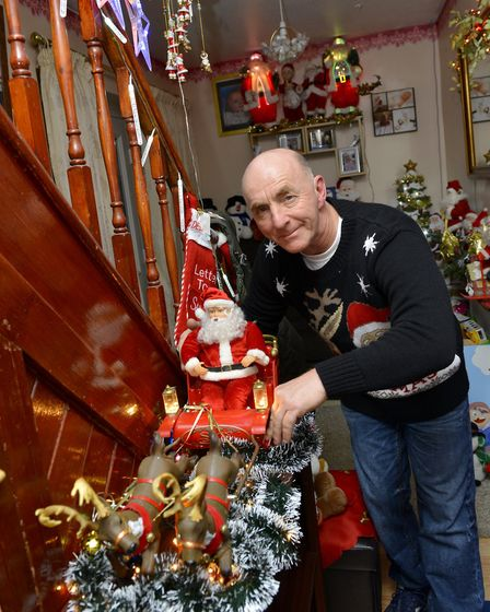 BrianTurner at the light switch-on in Warboys. Picture: DUNCAN LAMONT