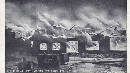 The Heath Works fire, dated 1911. Photo: Ronnie Giles.