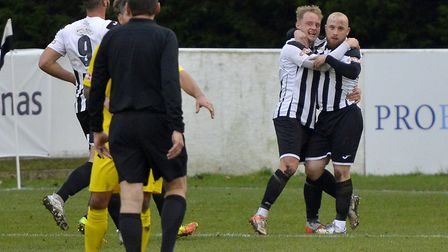 Ollie Snaith and Rogan McGeorge are two more of St Ives Town's new players. Picture: DUNCAN LAMONT