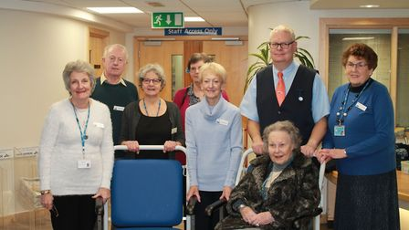 The Friends group handed over the wheelchairs at Hinchingbrooke Hospital
