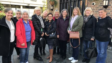 Daisy meeting WASPI campaigners from across Hertfordshire.
