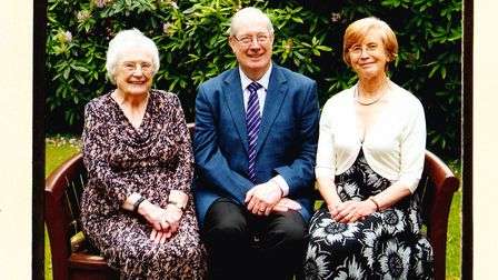 Left to right: 100-year-old Winnie and her two children, Peter and Jennifer. Picture: Peter Jeffs