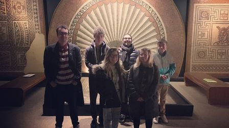 The Oaklands College students who have prepared the film for Verulamium Museum.