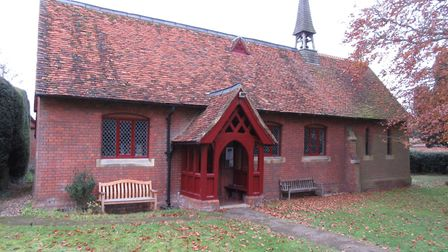 St Mary's Church, Childwickbury. Photo supplied by the Harpenden Local History Society.