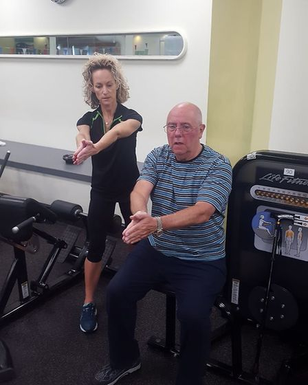 Alan Hill at the gym. Picture: Nuffield Health