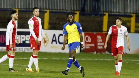 Rhys Murrell-Williamson enjoys scoring. Picture: LEIGH PAGE