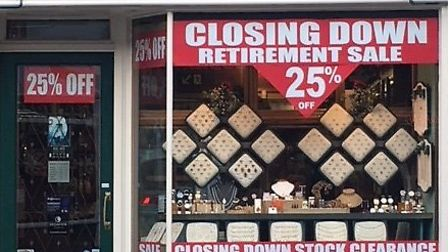 W Johnson the jewellers in St Neots is closing down