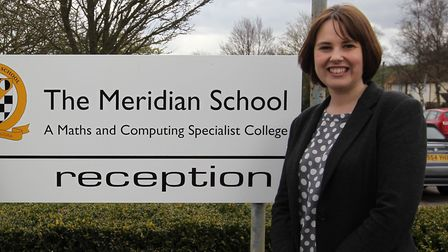 Current Greneway and Roysia headteacher Laura Rawlings, pictured outside Meridian, would become head