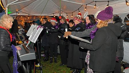 The Brampton and Wyton military wives choir. Picture; ARCHANT.