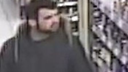 Police would like to speak to this man, as he may have information about the theft of food and alcoh