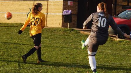 Katie Grehan got the first for St Albans Ladies in their 10-0 win over Watton.