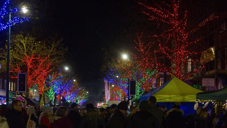 St Albans Christmas lights switch-on. Picture: John Starns