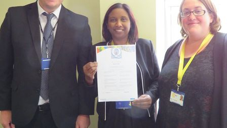 Abbey College teachers Carl Deighton, Jocyleen Moodley, and Claire Grainge. Picture: ABBEY COLLEGE