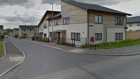 The incident took place in the Thonglsey area of Huntingdon. Picture: GOOGLE.