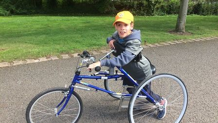 Will on his RaceRunner. Picture: David Horton