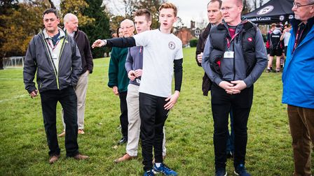 Head boy James Bromfield organising. Picture: Michael S Feather