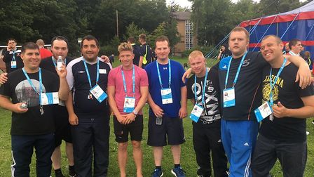 Liam Dwyer with the team. Picture: Hertfordshire Partnership University NHS Foundation Trust