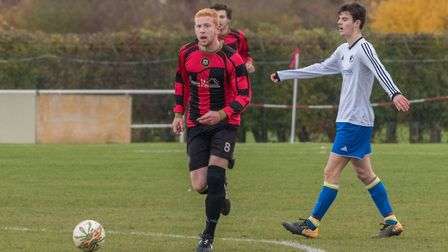 Midfielder Ben Panting scored for Huntingdon Town in their defeat to Harrowby. Picture: J BIGGS PHOT