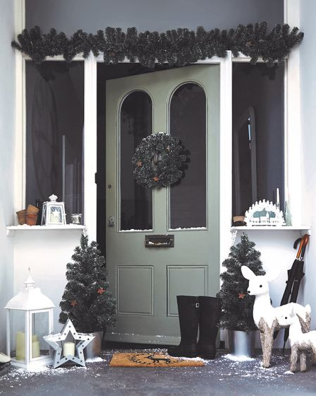 Front door dressed in products from www.dunelm.com